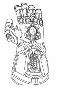 перчатка бесконечности, с гнёздами для шести камней бесконечности, использовавшаяся Титаном Таносом при попытке завоевать вселенную