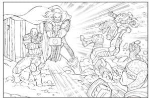 Тор в момент битвы