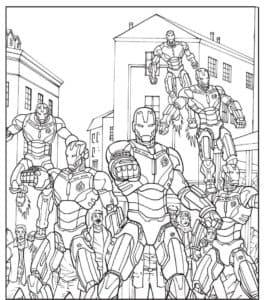 Группа дронов Железного человека