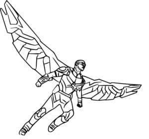 Сокол - является одним из первых чернокожих супергероев
