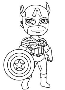 Мультяшный Капитан Америка