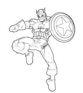 Капитан Америка - очень ловкий и выносливый супергерой