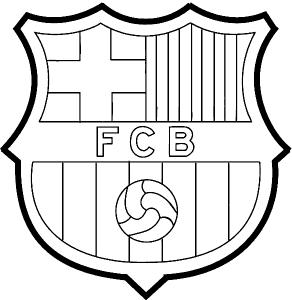 Эмблема Барселона раскраска