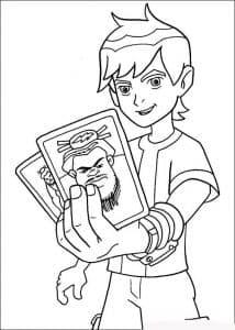 Бен раскраска для ребенка