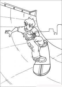 Бен Тен на скейте