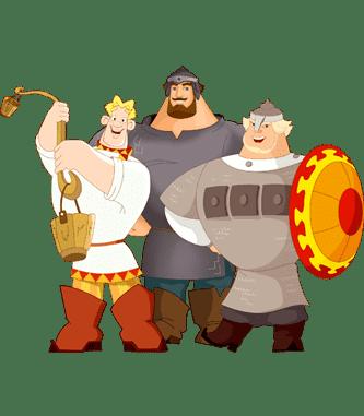 Раскраски Три Богатыря