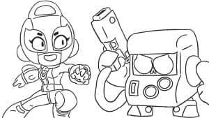 Браво Старс Макс и друг с пистолетом раскраска