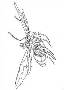 Мощный человек муравей раскраска