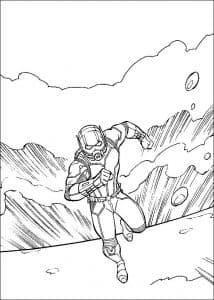 человек муравей убегает раскраска