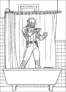 Человек муравей в ванной раскраска