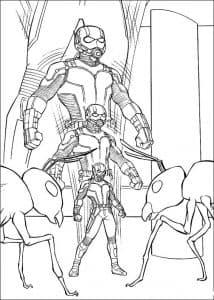 Человек муравей раскраска для мальчиков