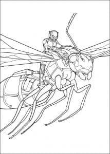 Человек муравей летит на осе