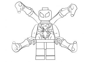 Человек паук лего
