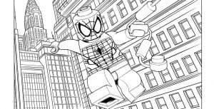 Человек паук лего и здания
