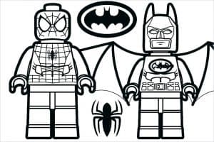 Бэтмен и человек паук лего