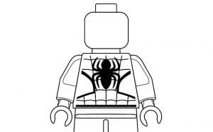 Человек паук лего раскраска детская
