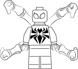 Человек паук лего раскраска для ребенка