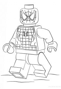 Человек паук лего раскраска для мальчиков