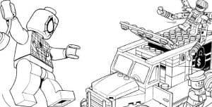 Человек паук лего и автомобиль