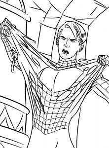 Лицо человека паука