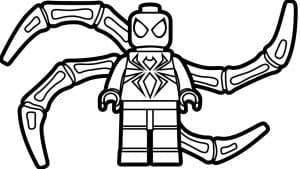 Человек паук лего с паутиной сзади