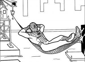 Человек паук на отдыхе