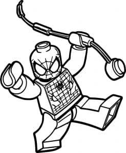 Человек паук лего спешит на помощь