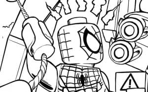 Человек паук лего и бинокль