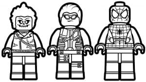 Человек паук лего и герои