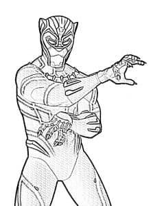 Раскраска черная пантера супергерой