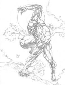 Черная пантера и дерево