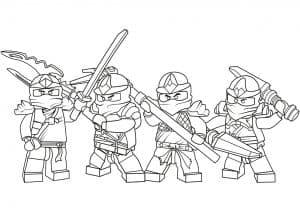 Маленькие воины раскраска