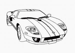 спортивный автомобиль раскраска