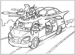 Автомобиль черепашек ниндзя