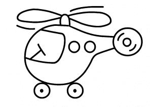 Вертолет раскраска