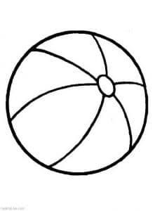 Мячик раскраска для мальчиков 3 лет