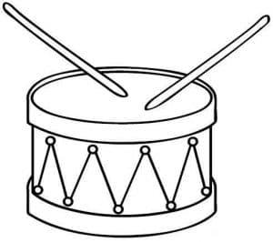 Барабан раскраска