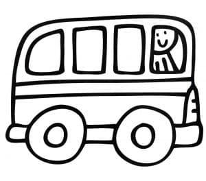 Раскраска для мальчиков 3 лет автобус