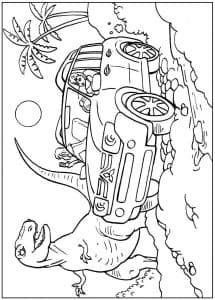 Машина и динозавр