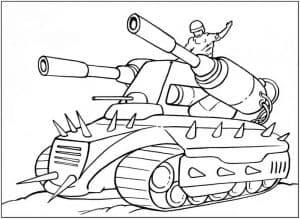 Большой танк с пушками