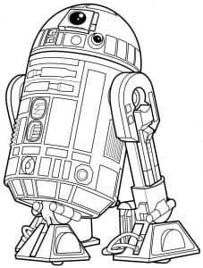 Маленький робот раскраска