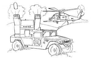 вертолет и машина