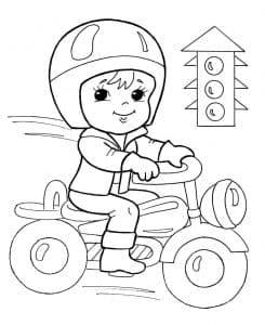 Мальчик на мотоцикле