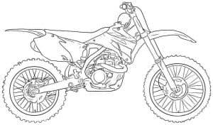 Мотоцикл для гонок раскраска