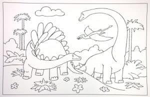 Динозавры раскраска для мальчиков