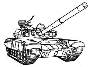 Огромный танк детская раскраска