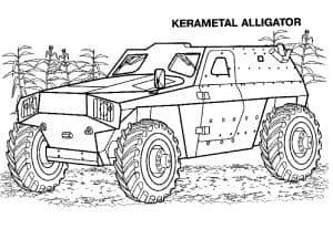 Военная машина в лесу