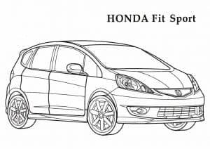 Honda Fit Sport раскраска