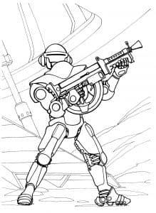 Звездный воин с оружием