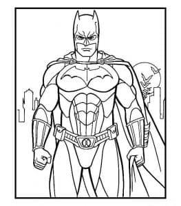 Бэтмен раскраска для мальчиков 8 лет